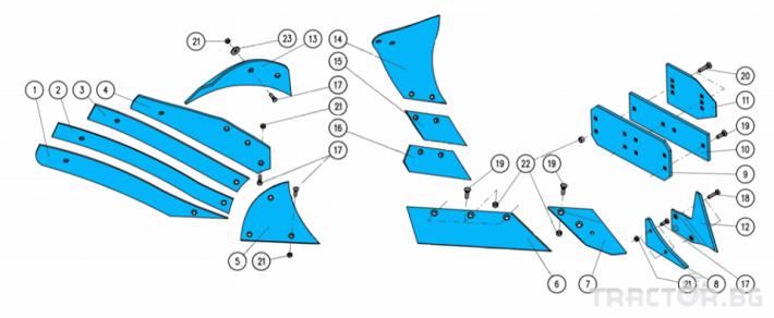 Плугове Употребяван плуг KUHN MULTI MASTER с 5 тела 14 - Трактор БГ